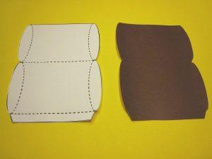folding card template pill box template