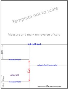 folding card templates easel stepper template reverse lo