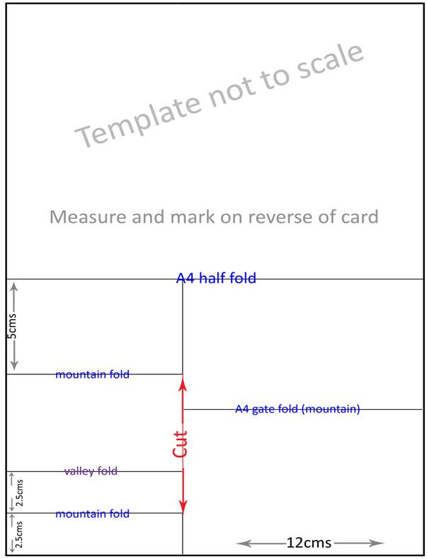 folding card templates