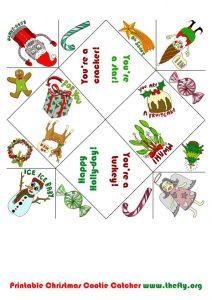 folding card templates helena maratheftis xmas cootie catcher thefty a