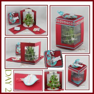 folding cards templates christmas window box x