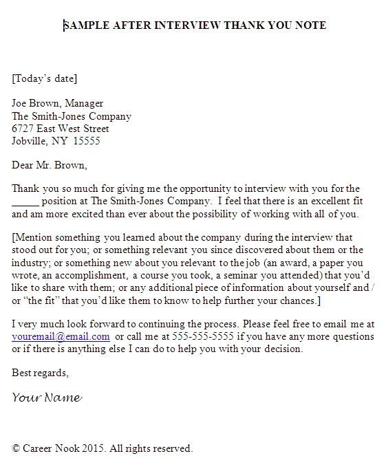 follow-up email after interview