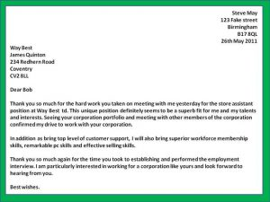 follow up email after interview letter following interview sample