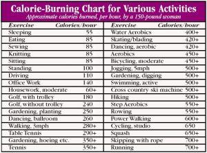 food calories chart calorie counter chart
