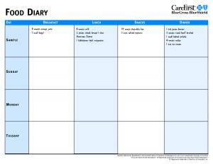 food diary template food diary template fvhtvdal