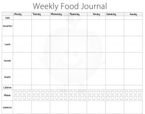 food diary template food journal template