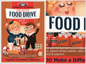 food drive flyer template charity food drive flyer template
