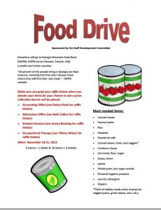 food drive flyer template free food flyer