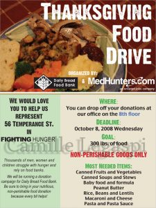 food drive flyer thanksgiving food drive flyer
