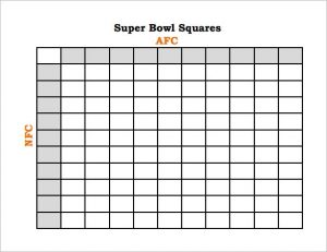football squares template excel football pool template free word excel pdf documents super bowl football pool template super bowl football pool template