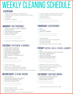 football template printable daily cleaning schedule free printable cleaning schedule