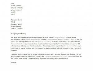 formal complain letters formal letter of complaint template