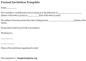 formal invitation template formal invitation template
