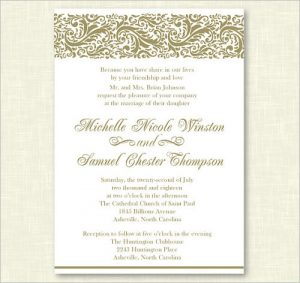 formal invitation template personalized wedding formal invitation template