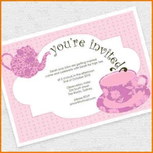 formal invitations template tea party invitation template bridal tea invitations template yhsogqm