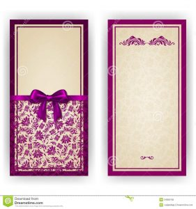 formal invite templates elegant vector template luxury invitation card lace ornament bow place text floral elements ornate background