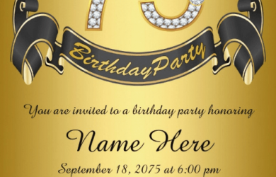 formal invite templates gold personalized th birthday party invitations