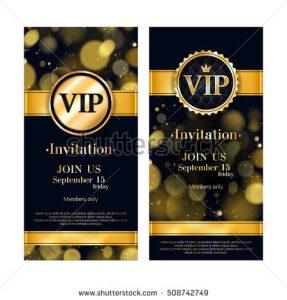 formal invite templates stock vector vip party premium invitation card poster flyer black and golden design template golden glow bokeh