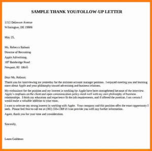 formal lab report template application for interview letter samples follow up thank you letter after interview template