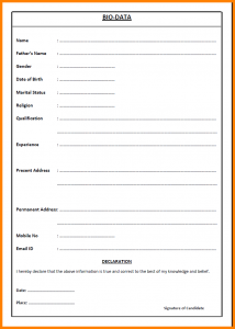 formal lab report template job application letter with biodata biodataprint png
