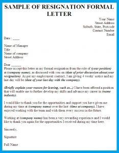 formal resignation letter writing a formal letter of resignation reason for formal resignation letter sample resign from job application outline blue color wording title header
