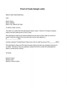 format business letter proof of funds letter best business template