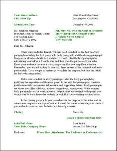 format for business letter business letter format