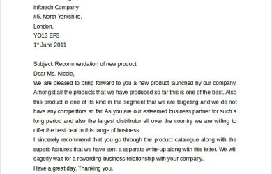 format of a business letter business letter format