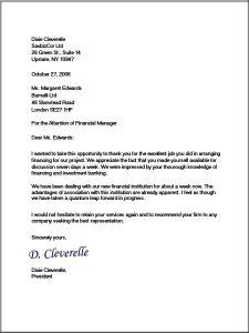 format of business letter business letter format