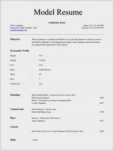 format of rsume model resume x