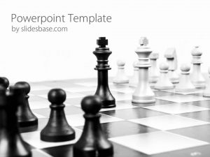 free alphabet templates strategy chess game powerpoint template slide