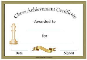 free award templates chess certificates