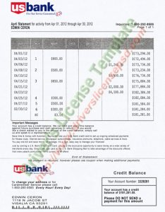free bank statement template img dac d f d ab eab