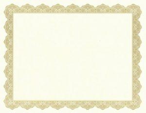 free blank certificate templates free award certificate borders gold