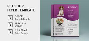 free brochure template downloads pet shop flyer template image