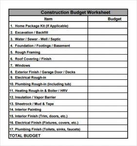free building estimate format in excel construction budget worksheet