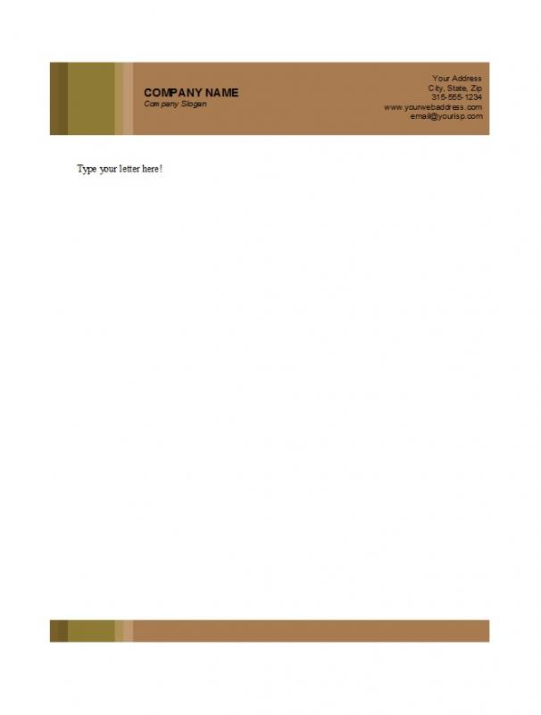 free business letterhead templates