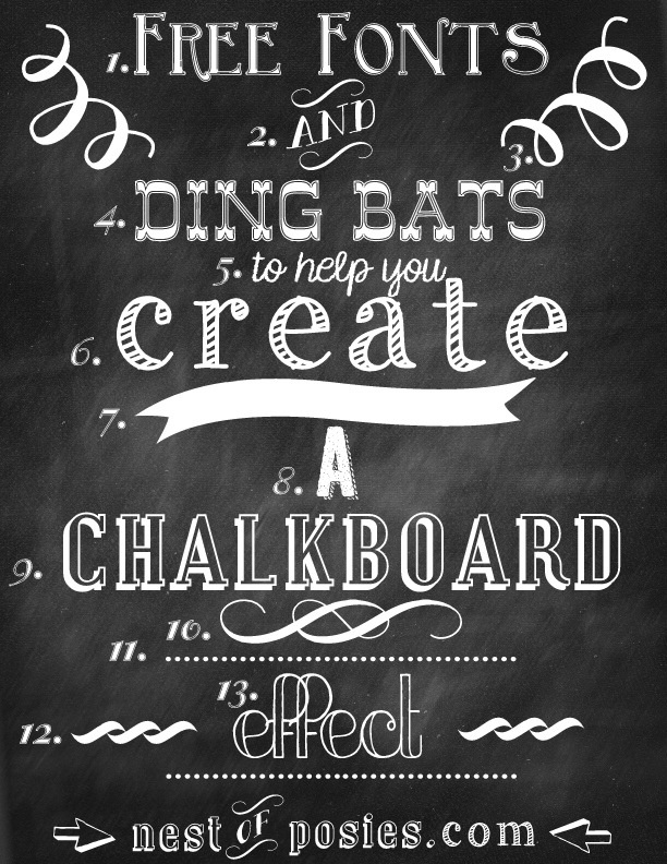 free chalkboard font