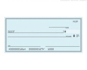free check printing template blank blue check