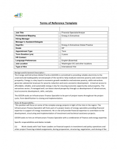 free checklist template terms of reference template l