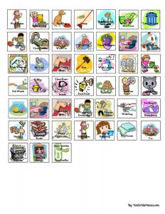 free chore chart template chore magnets