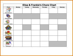 free chore chart template excel chore chart chore chart