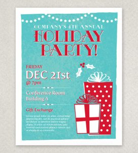 free christmas flyer templates classic holiday party flyer template