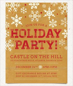 free christmas flyer templates holiday party flyer template in color schemes