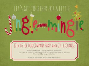 free christmas party invitations template screenshot