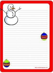 free christmas stationery templates stationary