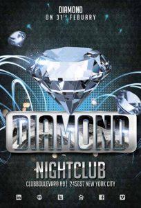 free club flyer templates diamond club template freepsdflyer com