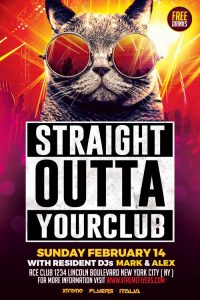 free club flyer templates nightclub flyer template