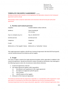 free construction contract template template for supply agreement d