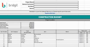 free construction schedule spreadsheet fbook constructionbudgettemplate